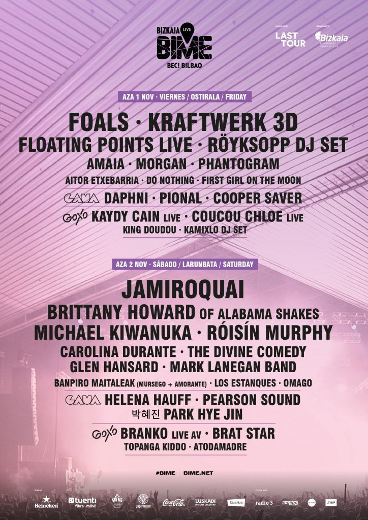 Foals, Floating Points, First Girl on the Moon y Röyksopp DJ Set al Bime Live.